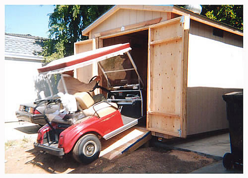 Shed for car how heavy metal regular car shed or for Golf cart garage door prices